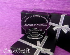 Engraved Personalised Wedding Anniversary Acrylic,keepsake gift present in box