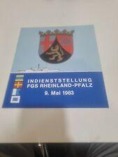 Heft Indienststellung FGS Rheinland-Pfalz 1983 Briefmarke Maritim Schiff
