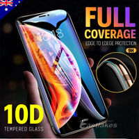 For Apple iPhone XS Max XR X 10D Tempered Glass Screen Protector Full Cover 8 7+