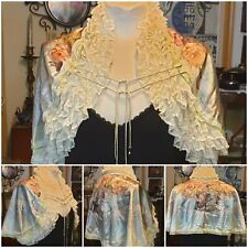 Michal Negrin One of a kind Runway Satin Lace Cape Oz