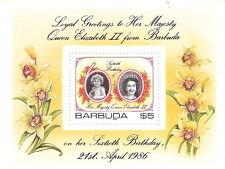 Barbuda 1986 60th Birthday Queen Elizabeth Souvenir Sheet MNH (SC# 782)
