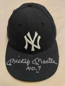 MICKEY MANTLE signed NEW YORK YANKEES hat UDA COA