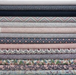 Liberty The Summerhouse Collection Pink + Grey 100% Cotton Patchwork Fabric