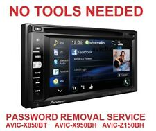 Password Removal Service For Pioneer AVIC Z Series Units - NO TOOLS NEEDED