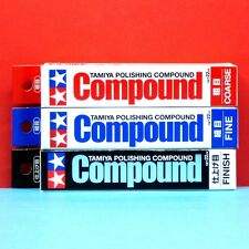 Tamiya Polishing Compound [#87068 Coarse +#87069 Fine +#87070 Finish) 3 pcs Set