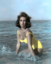 """ELIZABETH TAYLOR SUDDENLY LAST SUMMER 1959 8x10"""" HAND COLOR TINTED PHOTOGRAPH"""