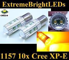 TWO Amber Orange 50W 10x Cree XP-E 1157 2357 Turn Signal Brake Stop Lights