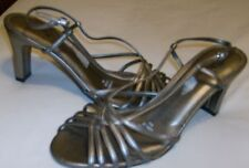 Womens Shoes Life Stride Platinum Color Strappy Heels Free Ship to USA