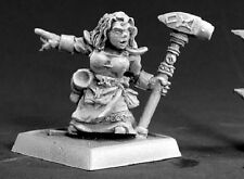Dwarf Forgemaiden Sergeant Reaper Miniatures Warlord RPG Fighter Paladin Melee