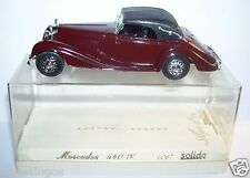 AGE D'OR SOLIDO MERCEDES 540 K 1939 MARRON FONCE REF 4067 AVRIL 1978 IN BOX 1/43