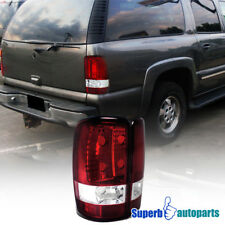 2000-2006 Chevy Denali Yukon Tahoe Tail Lights Brake Lamp Red/ Clear