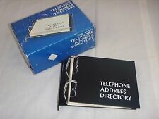 Vtg 70s Black Acrylic Plastic Desktop Telephone Address Directory Unused Orig Bo