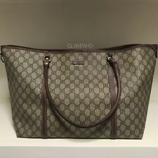 Authentic GUCCI GG PVC SHOULDER TOTE BAG