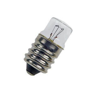 6V 3W E14 Screw in Light Bulb 14mm X 30mm (Pack of 5)