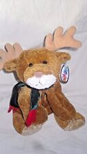 Mary Meyer Flip Flops Reindeer Brown Red Green Scarf Christmas Plush 2000 w/Tag