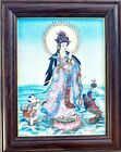 """Gem Stone Painting """" The GuanYin """" Rare Handmade Collectible Wall Decor"""