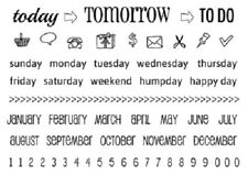 """#77040 Srm Clear Stamp 4""""x6"""": Today, Tomorrow, To Do Planner Calendar Numbers"""