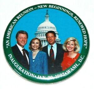 1993 BILL CLINTON AL GORE INAUGURATION campaign pin pinback button political