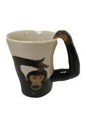 New listing Ape Coffee Mug Tea Cup Ceramic Pier1 Handpainted Stoneware