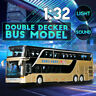 1:32 Mini Alloy Double-decker Bus W/Sound Light Pull Back Car Model Toy For  .#