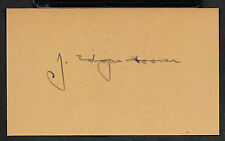 J Edgar Hoover FBI Autograph Reprint On Old 3X5 Card
