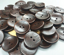 20pcs Wooden buttons sewing scrapbooking 2-Holes round decoration crafts 25mm