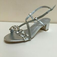 Lunar Marseille Silver Jewelled sandals, UK 7/ EU 40 BNWB RRP £55