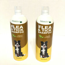 2 Nature's Best Flea Tick Dog Shampoo 32 oz. Total Clean Condition Essential Oil