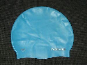 NABAIJI OXYLANE SILICONE BLUE SWIM SWIMMING CAP