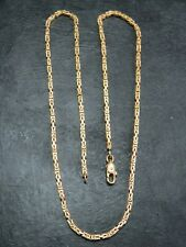 VINTAGE 9ct GOLD SQUARE BYZANTINE LINK NECKLACE CHAIN 18 inch 1981 UNOAERRE