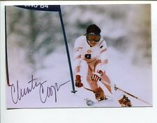 Christin Cooper US Olympic Silver Medal Alpine Ski Racer Signed Autograph Photo