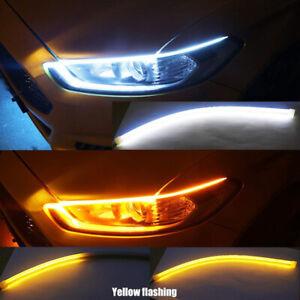 30CM LED Car Tailgate Tail Light Turn Signal Brake Running Flow Strip Lamps