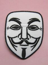 Vendetta Halloween Anonymous Fawkes Guy Mask Embroidered Iron On Patch 1X