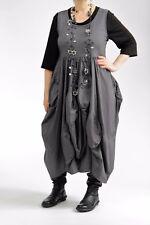 ♦ Kamuflage flippiges Kleid Gr.4 .. 40,42,44/46 grau, Ballon-Einsätze ♦