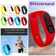 Silikon LED Sport Armbanduhr Uhr Sportuhr Digital Herren Damen Kinder Mädchen