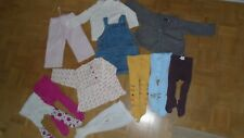 gros lot vetements fille 12 mois 1 an collant robe gilet sergent major