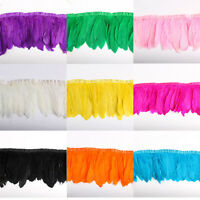 wholesale 10 yards Goose feather fringe trim for Crafts/Costume/Sewing 15-20cm
