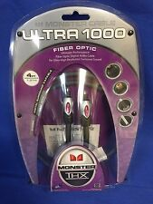 Monster Cable Ultra THX I1000 THX Certified Fiber Optic Digital Audio 4ft