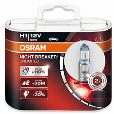 OSRAM h1 NIGHT BREAKER UNLIMITED PLUS 110% 2er Set. 64150nbu p14, 5s