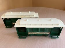 Set of 2 Vintage Avon Cable Car Decanters Bottles Wild Country & Unknown