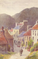 Set of Three Mid 20th Century Watercolours - Village Landscape Scene