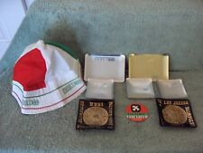 1968 Olympic Games Mexico Lot of 7 Ashtrays 1 Hat 1 closing Button Nice Lot Used