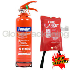 1KG POWDER ABC FIRE EXTINGUISHER KIT WITH FIRE BLANKET HOME BOAT OFFICE CAR TAXI