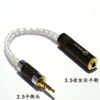 2.5mm TRRS Balanced Male to 3.5mm Stereo Female Earphone Audio Adapter Cable