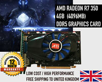 AMD R7 350 4GB (4096MB) DDR5 R7350 Gaming Graphics Card 4K HD - NEW