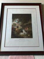"""Shepherds Reposing"" George Moreland Etching Print, Framed, 14 1/2"" x 18"" Image"