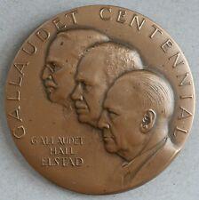 Gallaudet College Centennial 1864-1965 Washington D.C. Bronze Medal