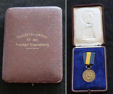Medaille für treue Dienste in Schachtel / Handelskammer Freistaat Braunschweig