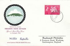 (43276) Tristan da Cunha FDC SIGNED Willie Repetto Freedom from Hunger Oct 1963