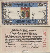 Deutsches Reich Notgeld: 369.3a) Notgeld der Stadt Flensburg bankfrisch 1920 25